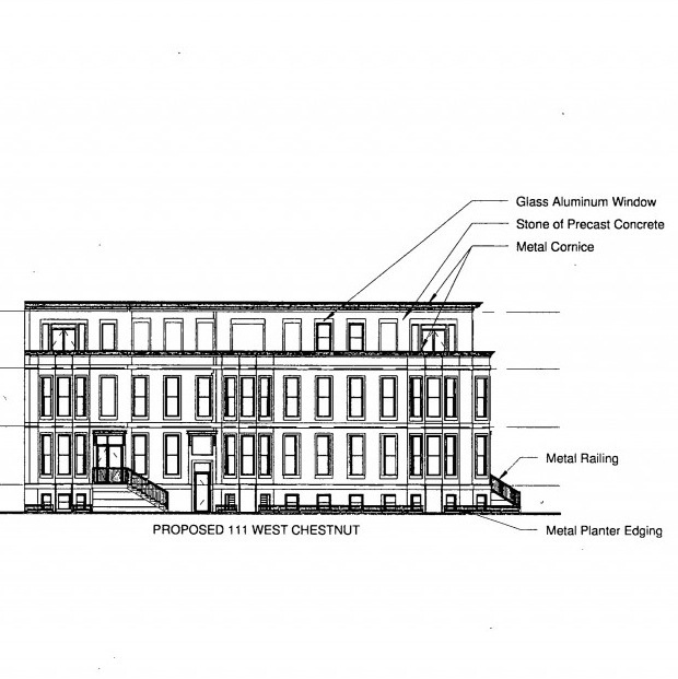 Chestnut Row Homes Elevation
