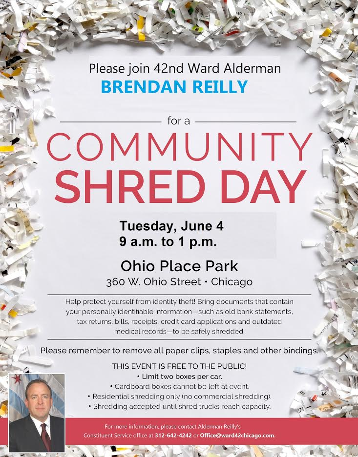 Community Shred Day hosted by Alderman Reilly