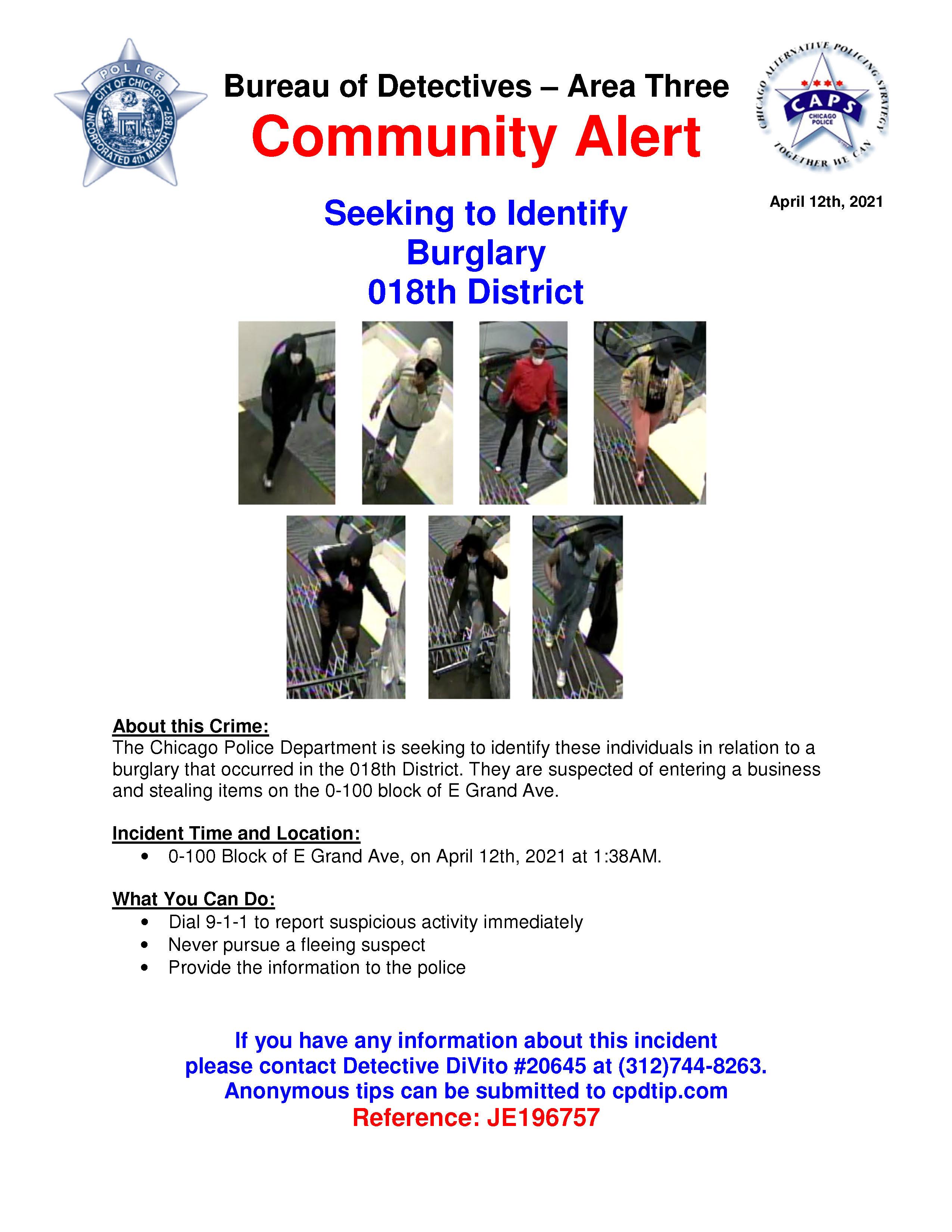 12 Apr 21- Seeking to Identify_Burglary_Nordstrom 12 Apr 21